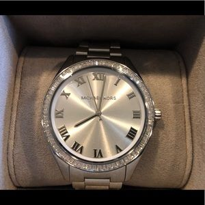 New with tags Michael Kors silver watch